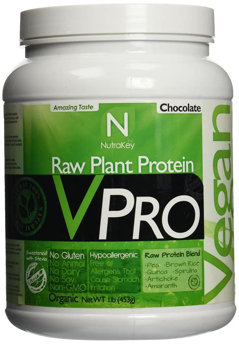 Amazon.com: NutraKey V-Pro, Raw Plant Based Protein Powder