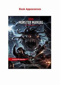 Dungeons And Dragons 5th Edition Monster Manual Pdf Free