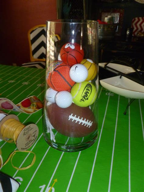 sports centerpieces for tables baby shower show me decorating