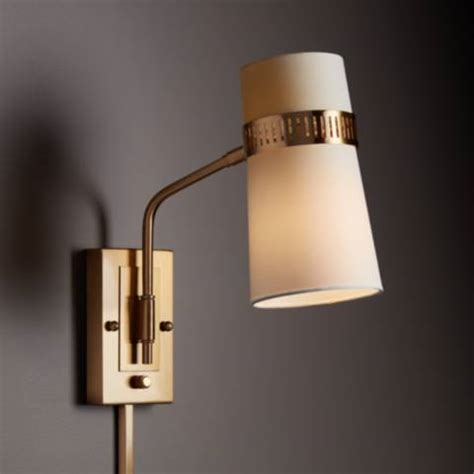 plugin wall sconces cartwright warm antique brass in wall l 9f152