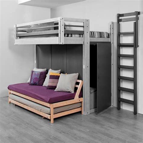 ikea canapé lit 2 places photo lit mezzanine 2 places avec canape lit idées