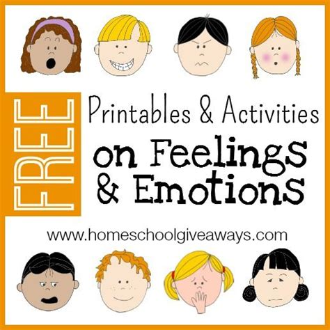 free printables and activities on feelings and emotions 538 | a42521f36d01a85cd6905b5554865ec8