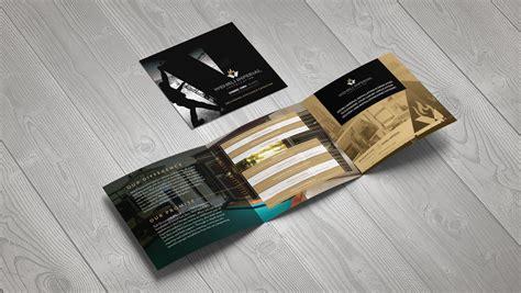 small square trifold brochure brochure design