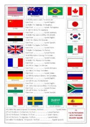 flags worksheets