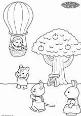 Coloring Pages Sylvanian Critters Calico Families Ice Cream Colouring sketch template