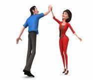 Cartoon Women - High Five Stock Photo - Image: 30989280