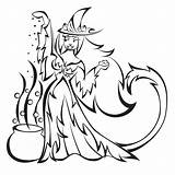 Witch Coloring Wicked Witches Pages Halloween Drawing Colouring Tigress Colour Printable Couldron West Deviantart Ii Getdrawings Popular Dari Disimpan sketch template