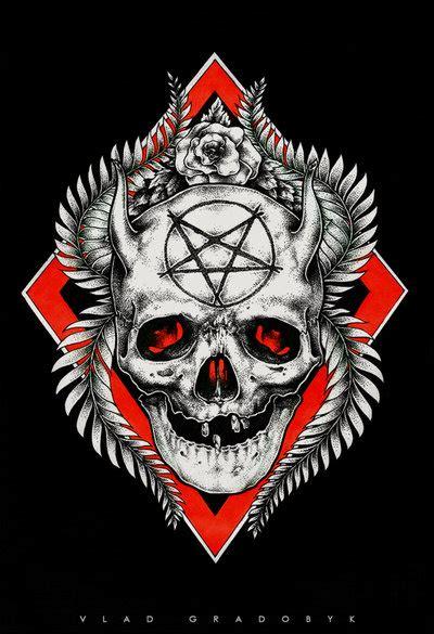 devil skull tattoo sketch  ac  deviantart