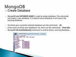 Mongodb nosql database for Mongodb create documents