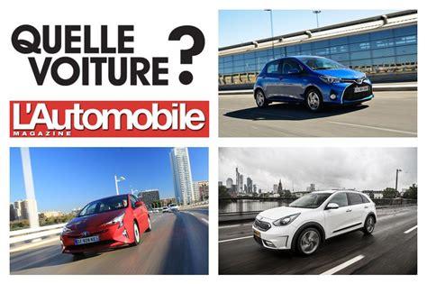 quelle voiture hybride choisir quelle hybride ou 233 lectrique choisir l automobile magazine