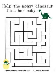 dinosaur maze easy age   fun worksheets  kids