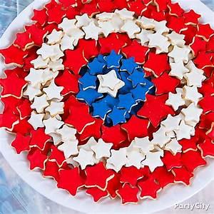 Captain America Shield Cookies Idea - Party City