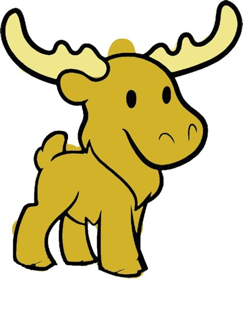 cute moose coloring page  print
