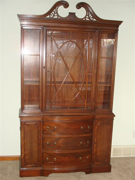 Duncan Phyfe China Cabinet Mahogany by Duncan Phyfe Dining Room Set Pedestal Table Chairs