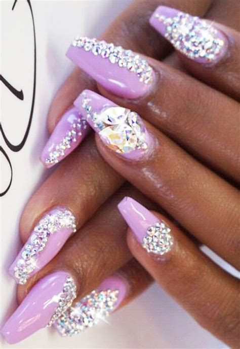 bling nail designs stunning rhinestone nail designs to try out