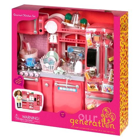 our generation kitchen our generation 174 gourmet kitchen accessory set pink target