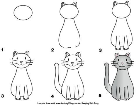 comment dessiner un chat assis tutoriels dessiner un chat