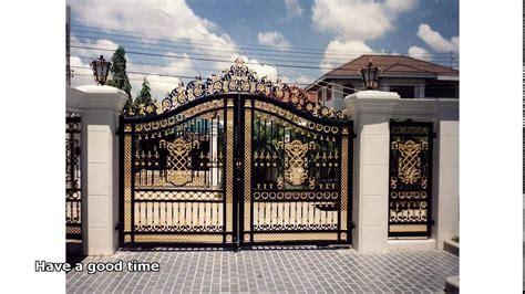 wrought iron steel gates design