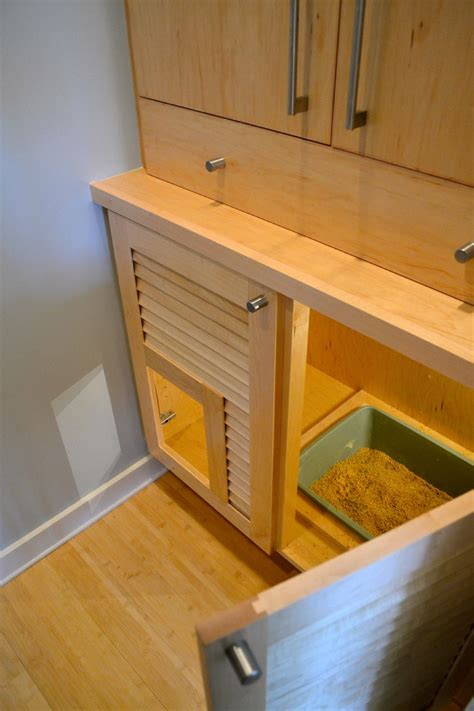 innovative litter box cabinet in spaces contemporary with