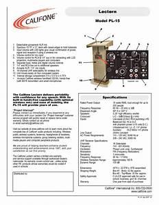 Lectern Pl-15 Manuals