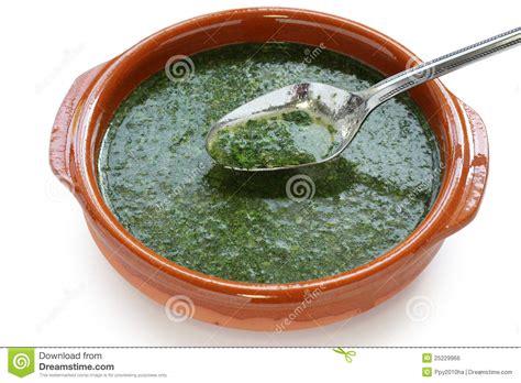 cuisine egyptienne molokhia soup stock photo image of molokheya background