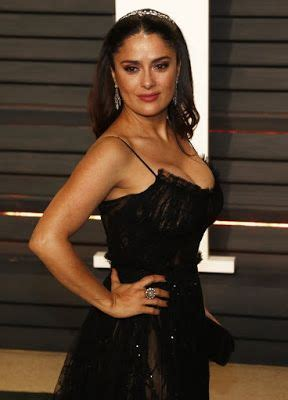 Salma Hayek Long Wavy Formal and Latest Hairstyle Photos ...