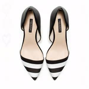 Black and White Striped Heels