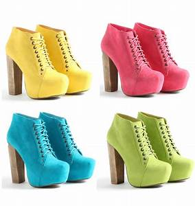 Pastel and Neon Wedges