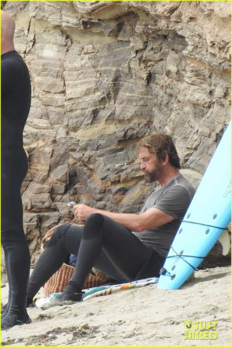 Gerard Butler Puts On His Skintight Wetsuit For A Day Of