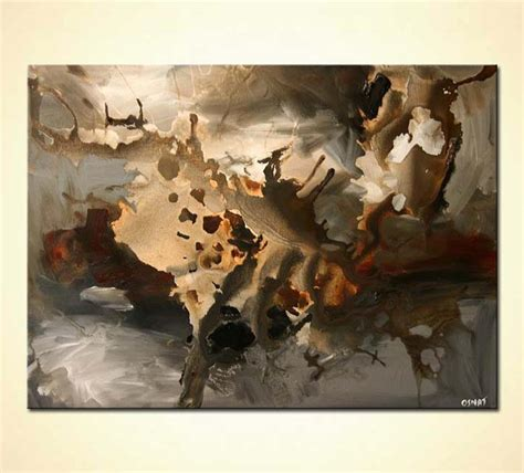 painting  sale brown gray abstract painting clouds