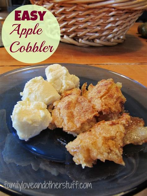 easy apple cobbler easy apple cobbler recipe