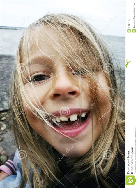 silly girl showing teeth stock image image  dentistry