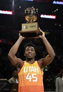 Donovan Mitchell wins NBA Slam Dunk Contest with assist ...  Contest
