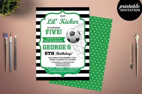 printable birthday boys soccer party invitation template
