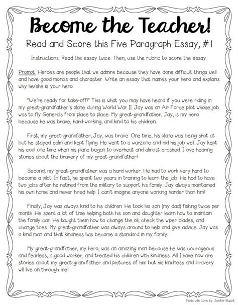 essay of teacher tips for teaching grading five paragraph essays the