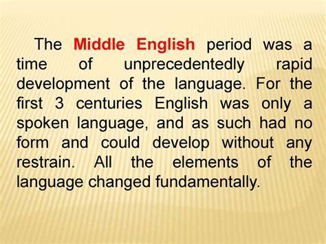 Middle English - презентация онлайн