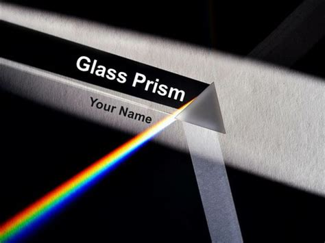 glass prism powerpoint template