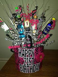 21st Birthday Gift Basket! Shots, shots, shots! Perfect ...