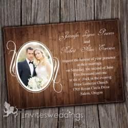 photo wedding invitations vintage rustic wood background photo wedding invitations iwi257 wedding invitations