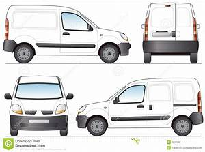 Delivery Van Stock Vector  Illustration Of Object  Rear