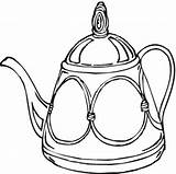 Coloring Printable Teapot Colouring sketch template