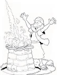 elijah the prophet coloring pages the sunday school collections - Elijah Prophet Coloring Pages