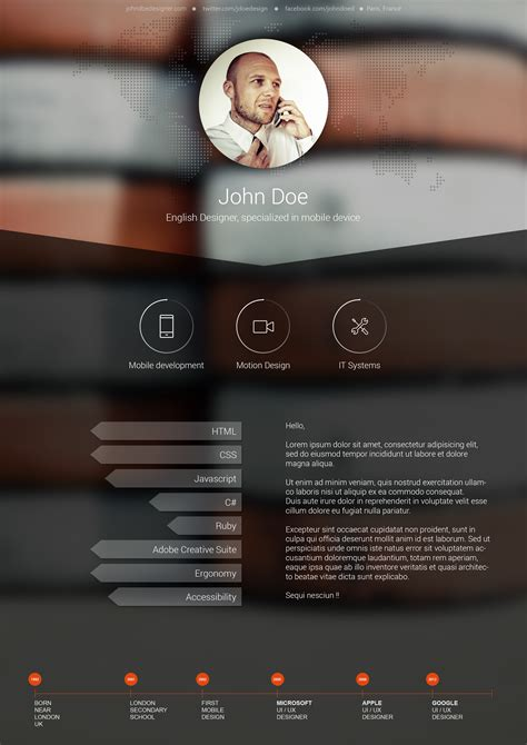 Creative Photographer Resume Templates by Resume 5 Free Resume Designs A Graphic World