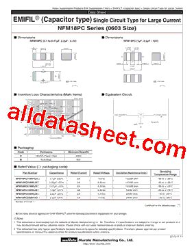 Nfm18pc105r0j3 Datasheet(pdf)  Murata Manufacturing Co, Ltd