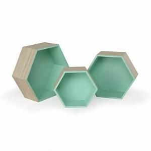 Etagere Murale Hexagonale : decoration etagere hexagonale ~ Preciouscoupons.com Idées de Décoration