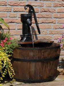 newcastle wooden barrel with pump garden water feature water features 2 go