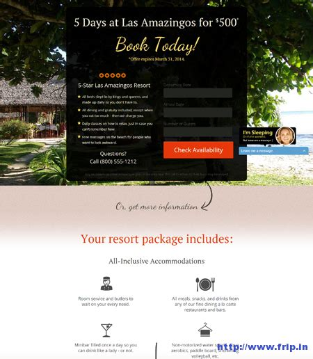 Tourism Landing Page Templates by 50 Best Unbounce Landing Page Templates Frip In