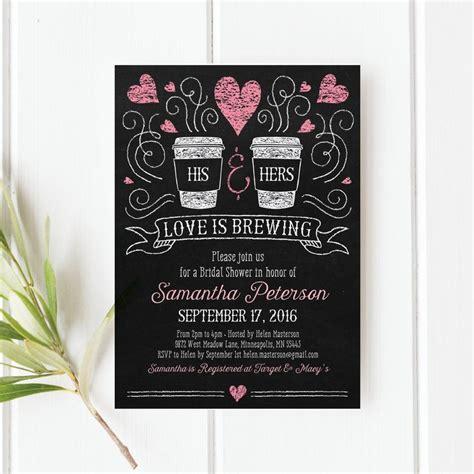 love  brewing bridal shower invitation printable