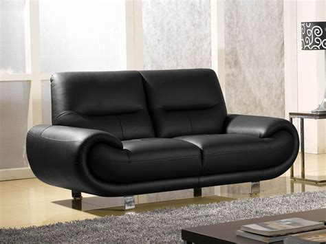 canapé 2 places cuir noir canapé 2 places en cuir noir angie