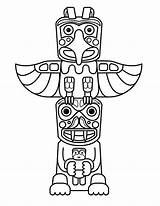 Totem Pole Native Coloring Poles Clipart Drawing Aboriginal Sculptures Indian Template Sheet Totems Crafts Sketch Symbols Graphic Colouring Wolf Craft sketch template